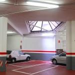 Pintura de parades y techo del parking, previo masillado y lijado