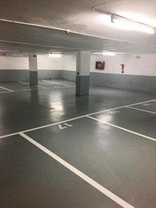 Pintar el parking: techos, paredes, columnas y zócalos