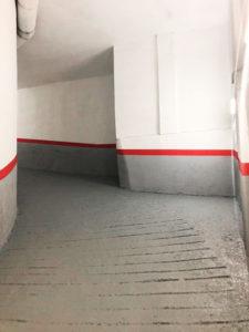 Pintar el techo del parking, previo enyesado