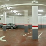 Reparación y regruesado del suelo del parking