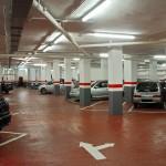 Pavimentación y pintado del suelo del parking
