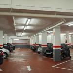 Pintura de señalización de columnas del parking